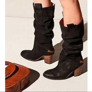 NEW Free People Montgomery Suede Slouch Boots